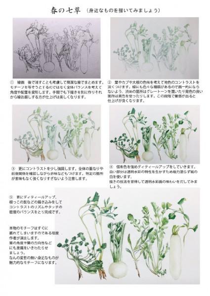 春の七草描き順